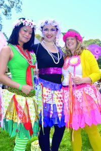 Full of apple blossom cheer; Elise Aycardo, Shalayne Little and Lisa Horsely.