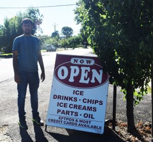 Suresh Bapatu has moved to the region from Sydney to work at the newly reopened service station.
