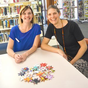 Jessica Fayle and Paula Olsen are leading the effort to hand-make 10,000 stars by July 2017.